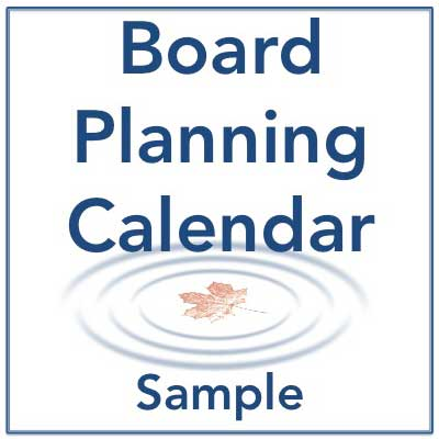 Annual Planning And Tracking Calendar For Board Staff Sample
