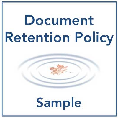 Sample Document Retention Policy  Training Resources For The
