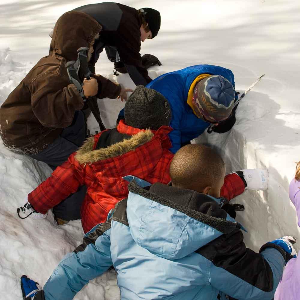 Outdoor Explorers in the Snow   Montana Wilderness Association